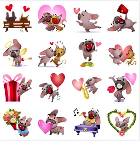 Mugsy In Love | Facebook Stickers | Pinterest | In love
