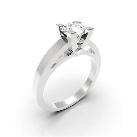 Solitaire diamant Or blanc - Solitaire Or blanc | Atelier