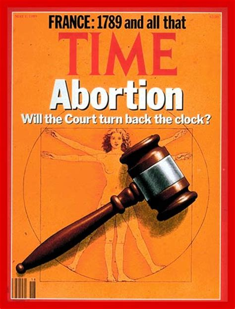 TIME Magazine Cover: Abortion and the Court - May 1, 1989