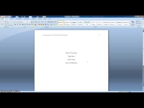 APA Format for Nursing School Papers - YouTube
