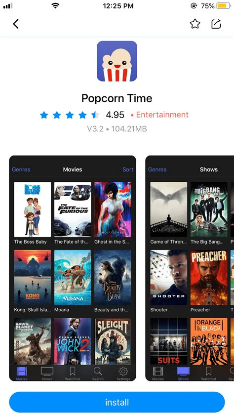 2018's Ultimate Guide to Install Popcorn Time iOS
