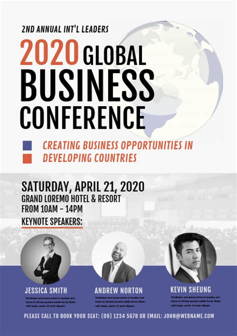 Copy of Business Conference Flyer or Poster | PosterMyWall