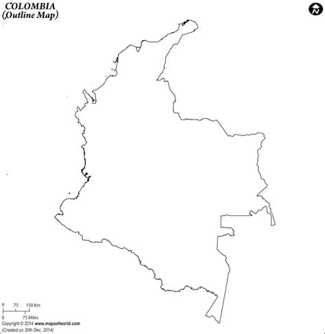Blank Map of Colombia | Colombia Outline Map