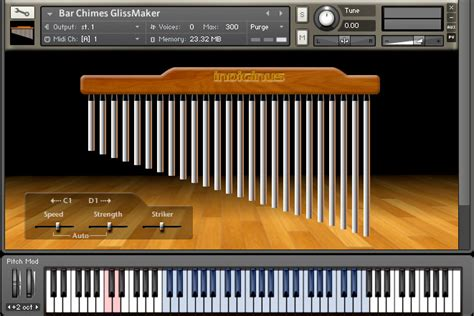 Bar Chimes sample library for Kontakt by Indiginus