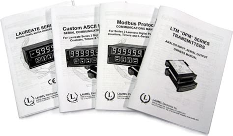 Download Owners Manuals for Digital Panel Meters, Counters