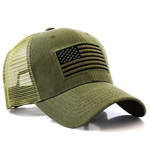USA Flag Patch Tactical Style Mesh Trucker Baseball Cap