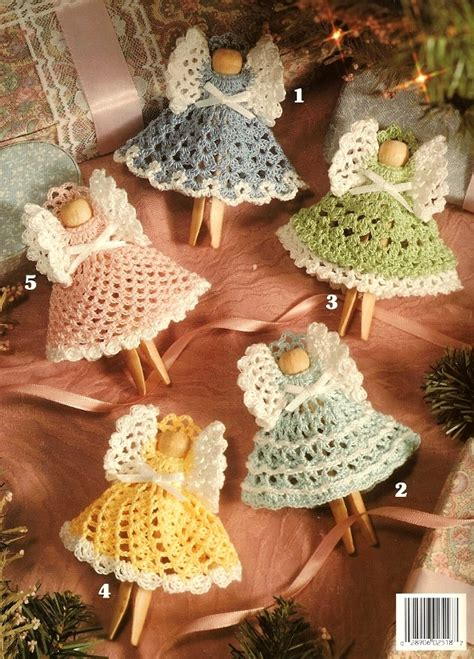 Christmas Clothespin Angels Crochet Ornament Patterns