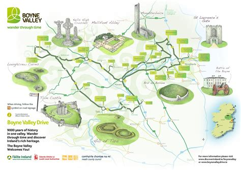 Boyne Valley Scenic Drive, Route Map and Guide, Co