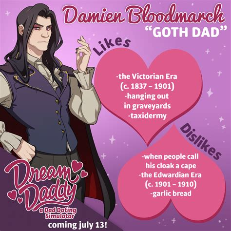 Dream Daddy: A Dad Dating Simulator Characters Guide : MGW