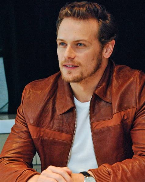 New / Old #SamHeughan pics ~ press conference July 2018