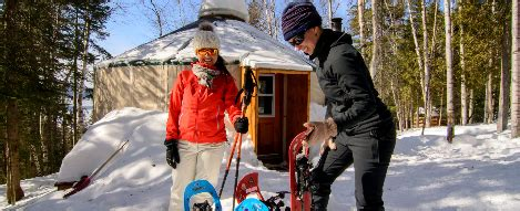 Skiing, snowshoeing and other winter sports | Québec maritime
