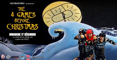 """""""The 4 games before Christmas"""" des Lille Roller Girls"""