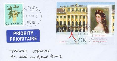 Covers and stamps of the World: Sissi impératrice sur une