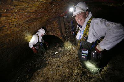 Thames Water workers remove huge fatbergs in London sewer