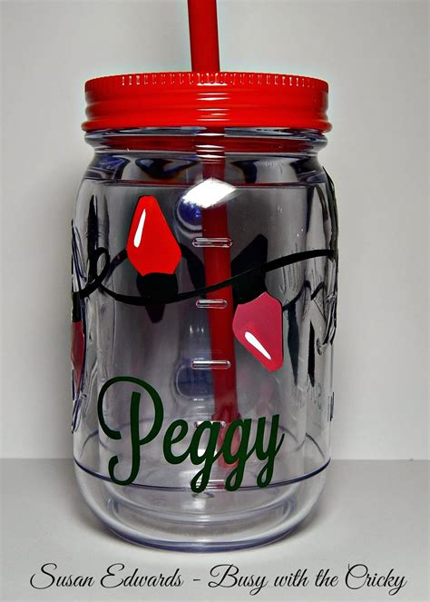 Personalized Drink Cups with a Friend ~ Busy with the Cricky